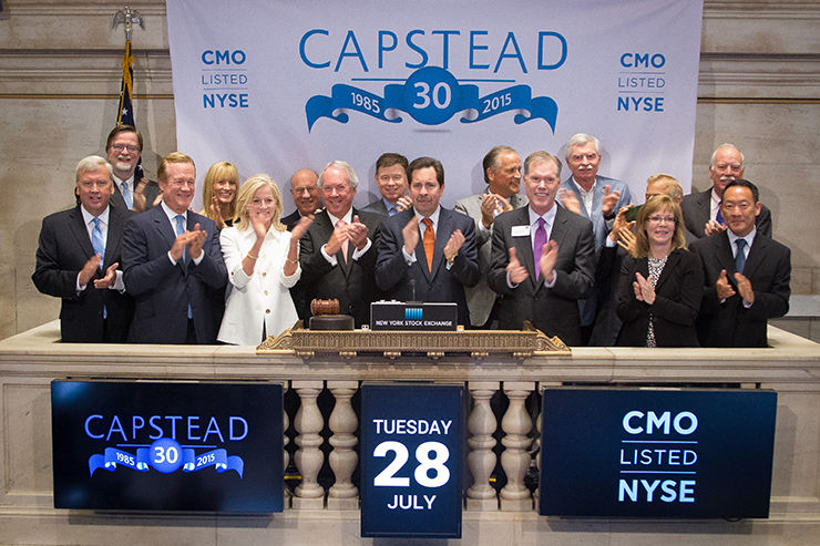 Capstead rings closing bell at NYSE