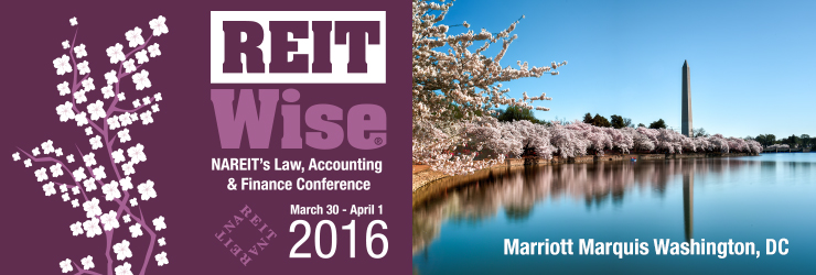 REITWise Conference 2016 Banner