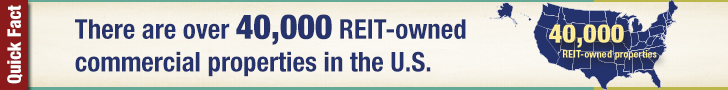 There are over 40,000 REIT-owned properties in the U.S.