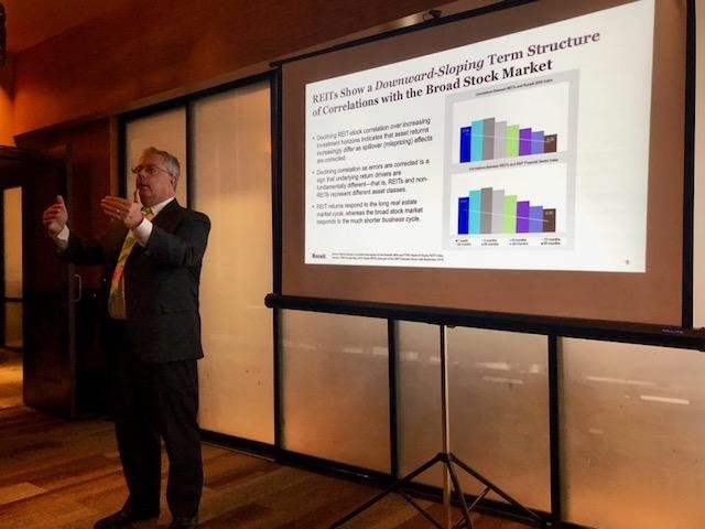 Brad Case of Nareit presents on REIT investing in July 2018.