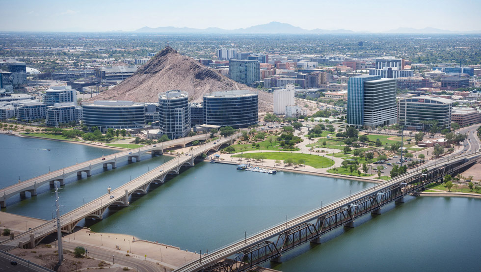 Hayden Ferry in downtown Tempe