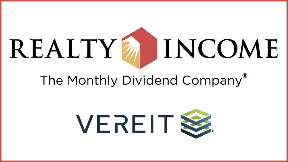 Realty Income, VEREIT logos