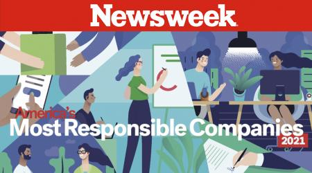 Newsweek list of most responsible companies for 2021.
