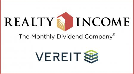 Realty Income, VEREIT logos